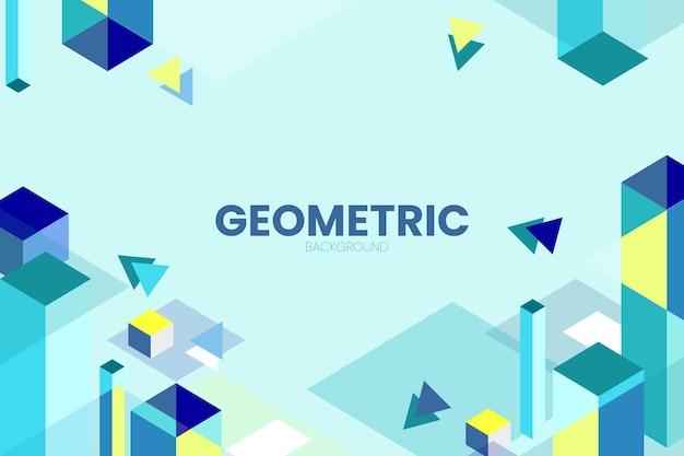 Geometrische achtergrond met isometrisch rechthoek eenvoudig vectorontwerp