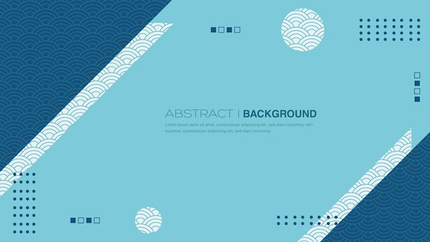Geometrische achtergrond met japans patroon premium vector