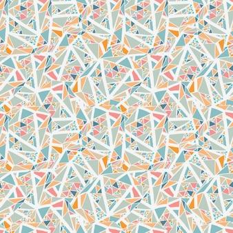 Geometrische achtergrond met kleine driehoeken en witte lijnen