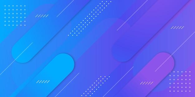 Geometrische achtergrond met kleurovergang banner