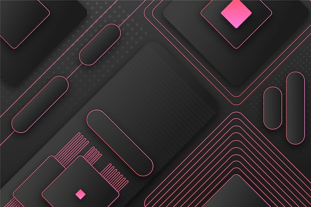 Geometrische achtergrond met kleurovergang met verschillende vormen