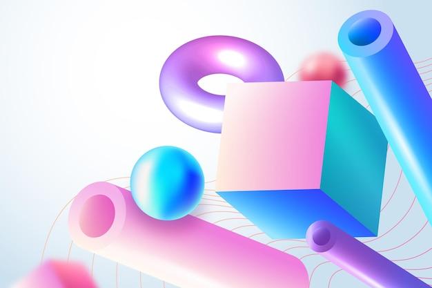 Geometrische achtergrond met kleurovergang Gratis Vector