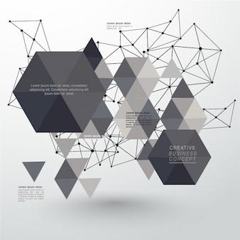 Geometrische achtergrond met polygonen en lijnen