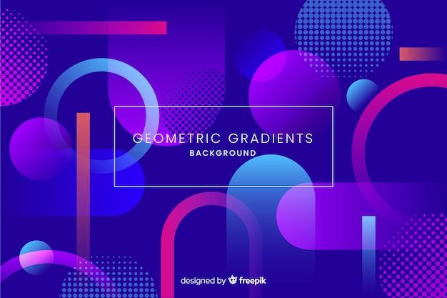 Geometrische achtergrond met verloop delen