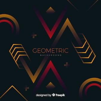 Geometrische achtergrond met verloopvormen