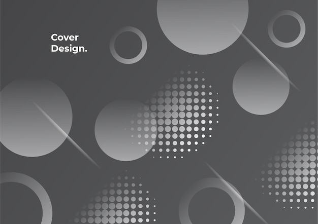 Geometrische achtergrond met zwarte en grijze kleur voor de kleurovergang. minimale abstracte achtergrond met memphis-element. dynamische vormen compositie