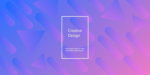 Geometrische achtergrond. minimaal abstract omslagontwerp. creatief kleurrijk behang. trendy gradiëntposter. vector illustratie.