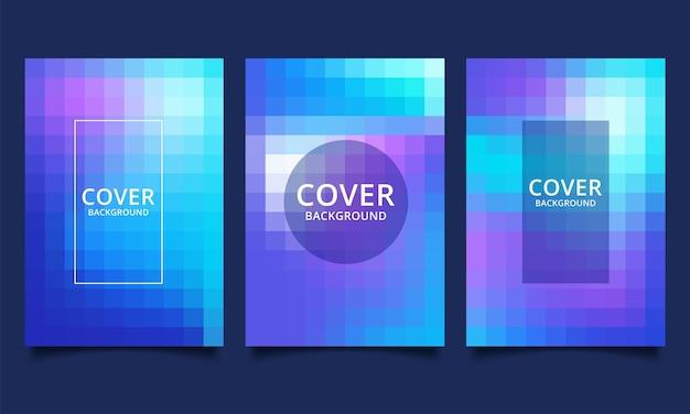 Geometrische achtergrond sjabloon voor covers