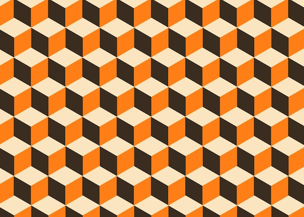 Geometrische achtergrond textuur retro kubus