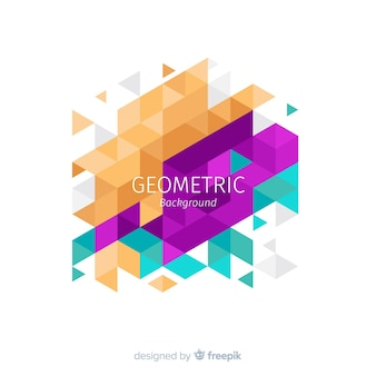 Geometrische achtergrondkleur
