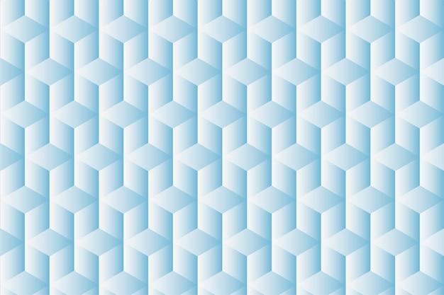 Geometrische achtergrondvector in blauwe kubuspatronen