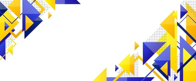 Geometrische app omslagsjabloon met formulieren
