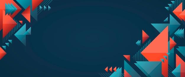 Geometrische app omslagsjabloon met vormen