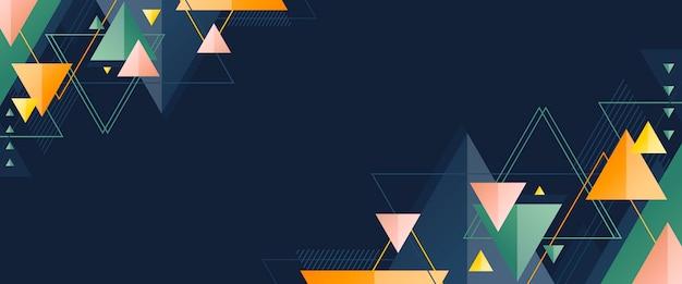 Geometrische app omslagsjabloon