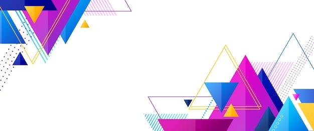 Geometrische app voorbladsjabloon met formulieren