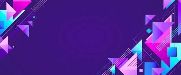 Geometrische app voorbladsjabloon