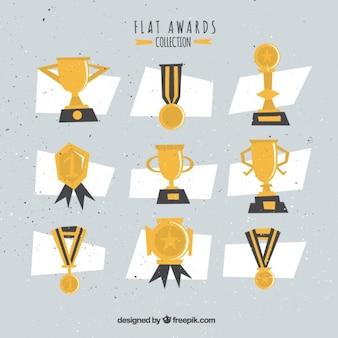 Geometrische awards in vintage stijl