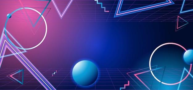 Geometrische banner in jaren 80-stijl