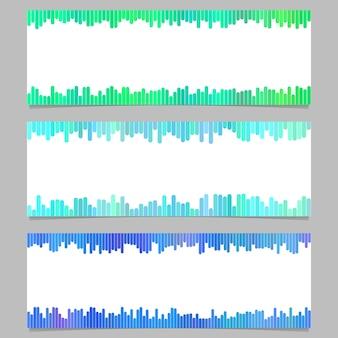 Geometrische banner sjabloon ontwerp set - horizontale vector grafische collectie van verticale lijnen op witte achtergrond