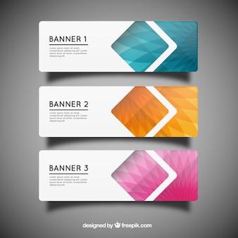 Geometrische banner templates