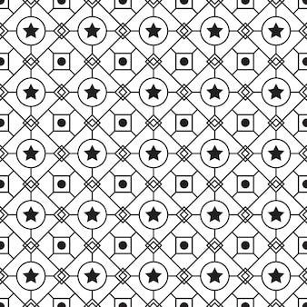 Geometrische batik naadloze patroon patroon achtergrond. klassiek stoffen behang. elegante etnische decoratie