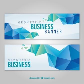 Geometrische bedrijfskaart in moderne stijl
