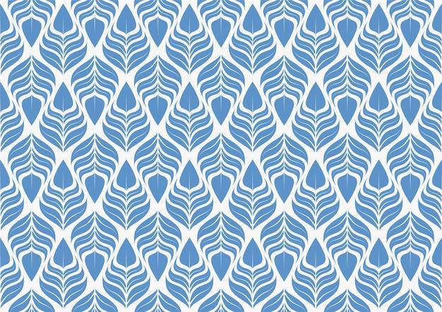 Geometrische bladeren vector naadloze patroon