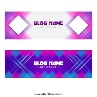 Geometrische blog banners