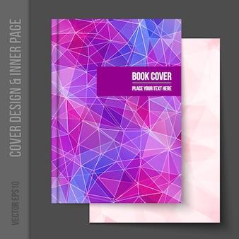 Geometrische boekomslag ontwerp