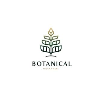 Geometrische botanische natuur boom logo concept