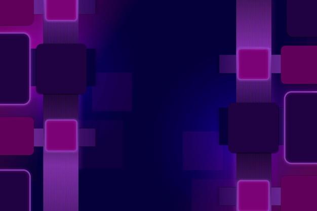 Geometrische bureaubladachtergrond, paars vectorontwerp