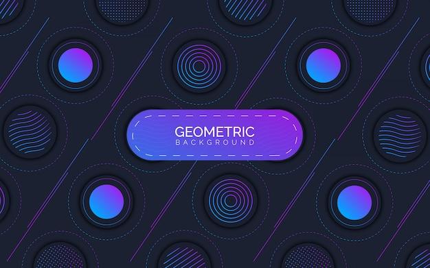 Geometrische cirkel abstracte achtergrond