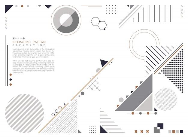 Geometrische compositie vormt moderne ontwerp achtergrond