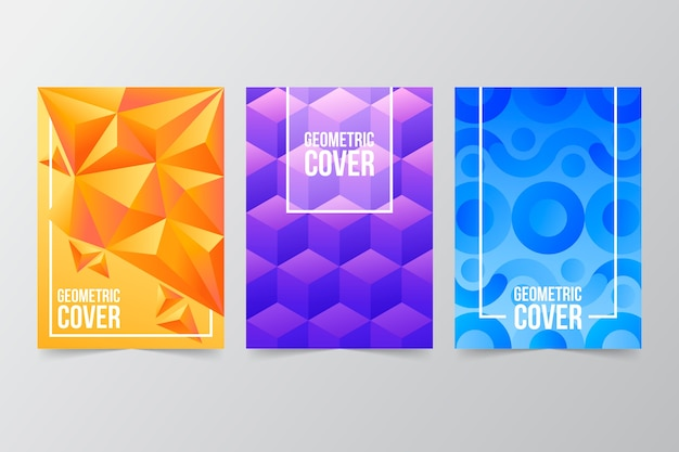 Geometrische cover collectie abstract ontwerp