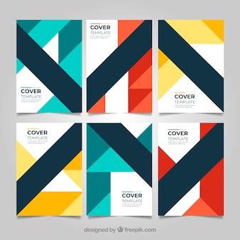 Geometrische coverscollectie met kleuren