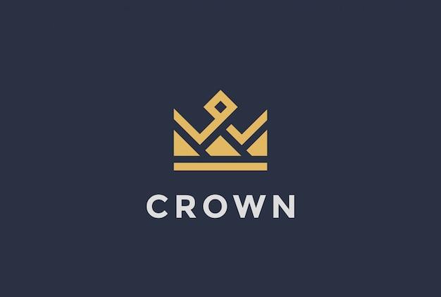 Geometrische crown logo icoon.