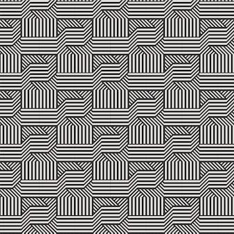 Geometrische diamant tegel minimale moderne grafische patroon driehoek lijn 3d patroon zwart-wit kleur