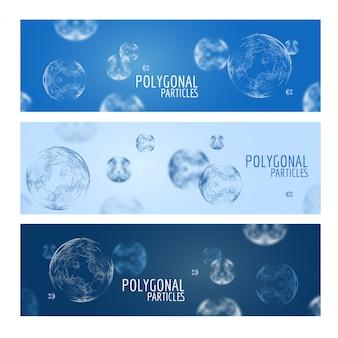 Geometrische digitale bollen banners sjabloon