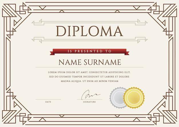 Geometrische diploma sjabloon