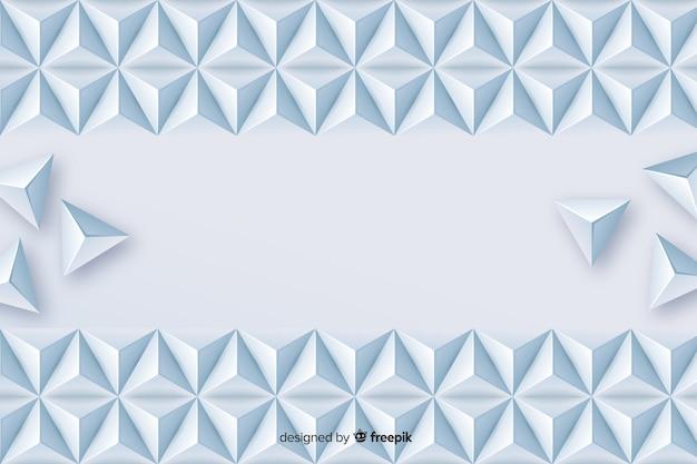 Geometrische driehoek vormen achtergrond in papierstijl