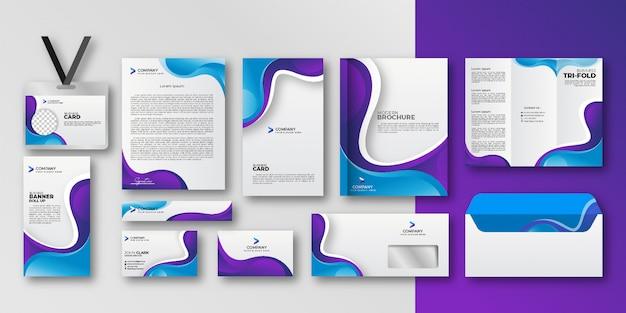 Geometrische elementen zakelijke briefpapier set collectie