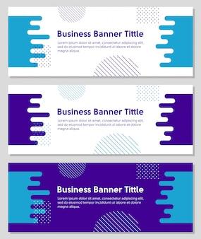 Geometrische en vloeibare vormen zakelijke banner