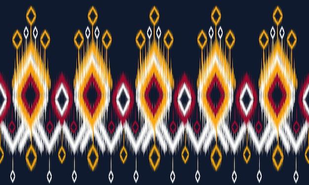 Geometrische etnische ikat patroon oosters traditioneel ontwerp voor achtergrond.