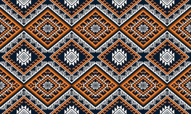Geometrische etnische oosterse ikat naadloze patroon.