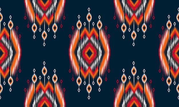 Geometrische etnische oosterse ikat patroon traditioneel ontwerp voor achtergrond, tapijt, behang, kleding, verpakking, batik, stof, vector illustration.embroidery stijl.