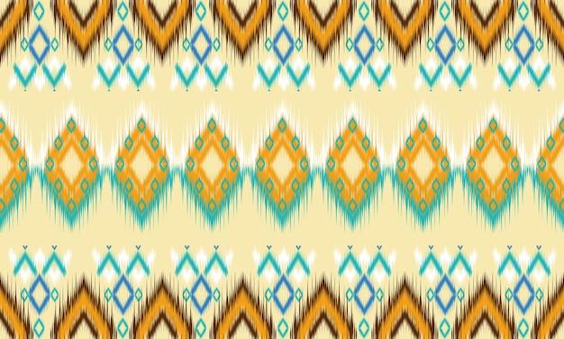 Geometrische etnische oosterse patroon traditionele ontwerp voor achtergrond, tapijt, behang, kleding, verpakking, batik, stof, vector illustration.embroidery stijl.