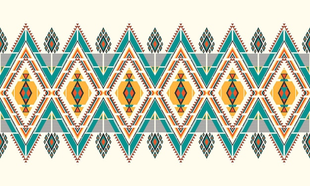 Geometrische etnische patroon borduurwerk .carpet, wallpaper, kleding, verpakking, batik, stof, vector illustratie borduurstijl.