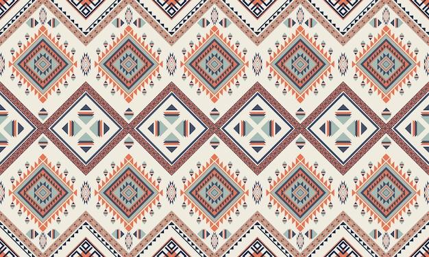 Geometrische etnische pattern.carpet,wallpaper,clothing,wrapping,batik,fabric,vector illustratie borduurstijl.