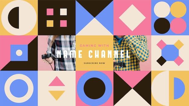 Geometrische gaming youtube channel art