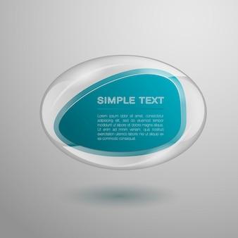 Geometrische glasvormen voor tekst. zakelijke vormen. vector